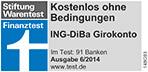 Siegel Stiftung Warentest kostenloses Girokonto 2014 ING-DiBa