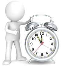 Uhrzeit mit 5 vor 12 - Antragsfrist